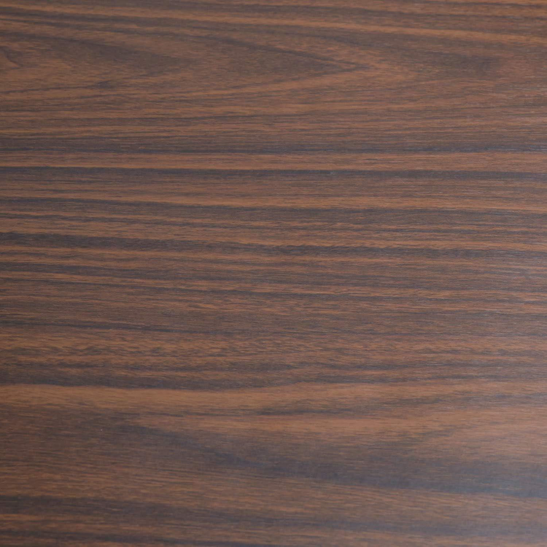 "Art3d 17.7""x78.7"" Peel and Stick Wallpaper - Decorative Self Adhesive Vinyl Film Wood Grain Wallpaper for Furniture Cabinet Countertop Shelf Paper, Walnut"
