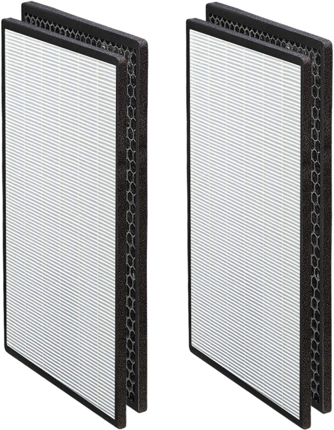 Pro Breeze HEPA Air Purifier Filter, Replacement Filter (x2) - 3-in-1 Filter for PB-P06 Air Purifier HEPA 13 (PB-P06F)