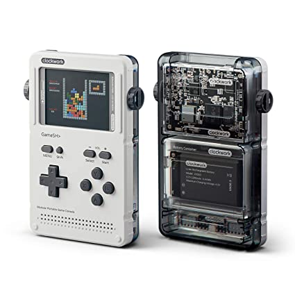 GameShell, Open Source Portable Game Console, Modular DIY Kit, Ideal for  Indie Game Developers, Hackers and Retro Games Collectors (White)