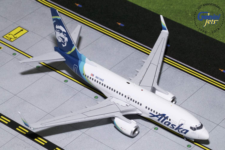 人気定番の Gemini200 1:200スケール アラスカ航空B737-700 N614AS B07L5YVL9H 1:200スケール ダイキャストモデル 飛行機 飛行機 B07L5YVL9H, ヒガシヒロシマシ:62ca3718 --- wap.milksoft.com.br