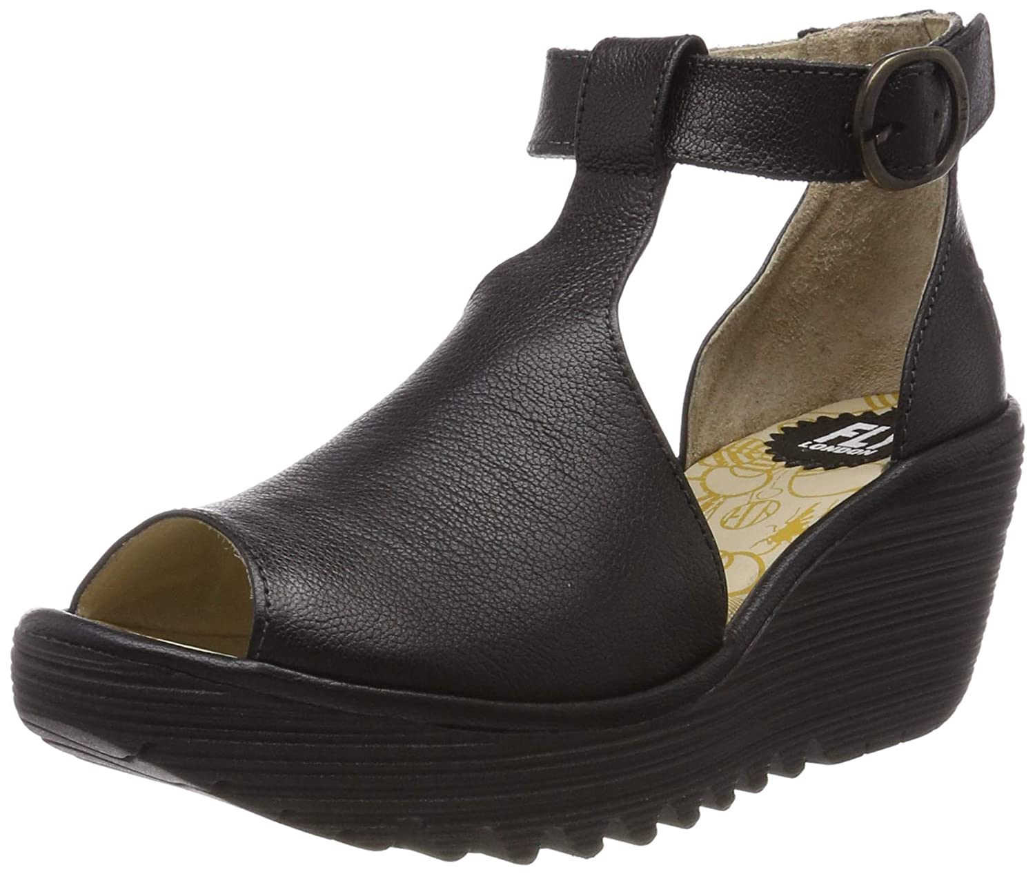 54bdb938 Fly London Women's Yola004fly Ankle Strap Sandals: Amazon.co.uk: Shoes &  Bags