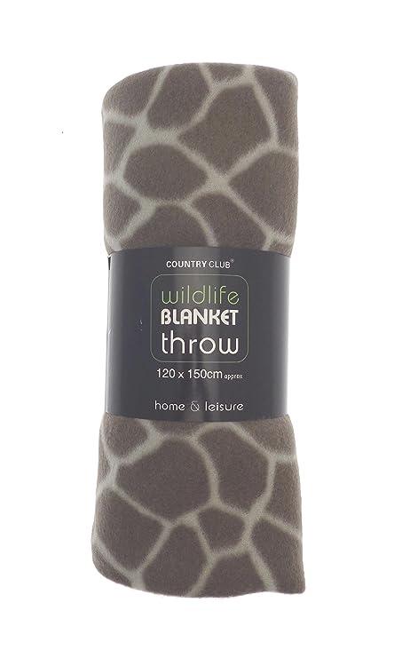 GIRAFFE PRINT SUPERSOFT FLEECE THROW BLANKET 40 X 40 CMS FROM Unique Giraffe Print Throw Blanket