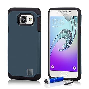 32nd Funda Armadura Rigida Slim Armour con Doble Carcasa para Samsung Galaxy A5 (2016) SM-A510 - Azul Pizarra
