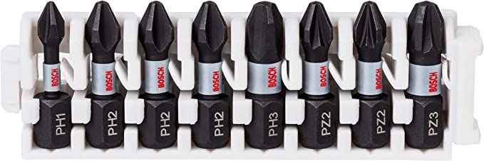 Bosch Professional 8 tlg Impact Control Schrauberbit Set Pick and Click, Zubeh/ör Schlagschrauber