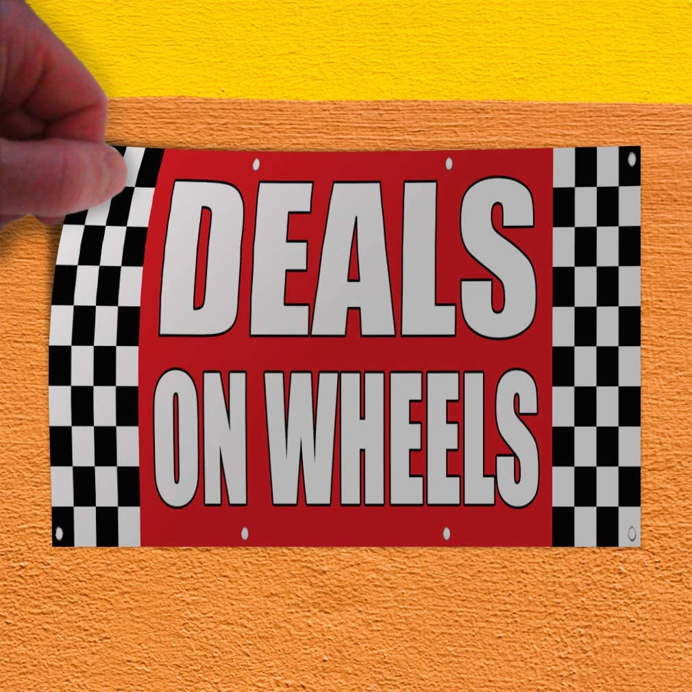 Auto Repair Pack of 3 Deals on Wheels Open King Swooper Feather Flag Sign Kit with Pole and Ground Spike