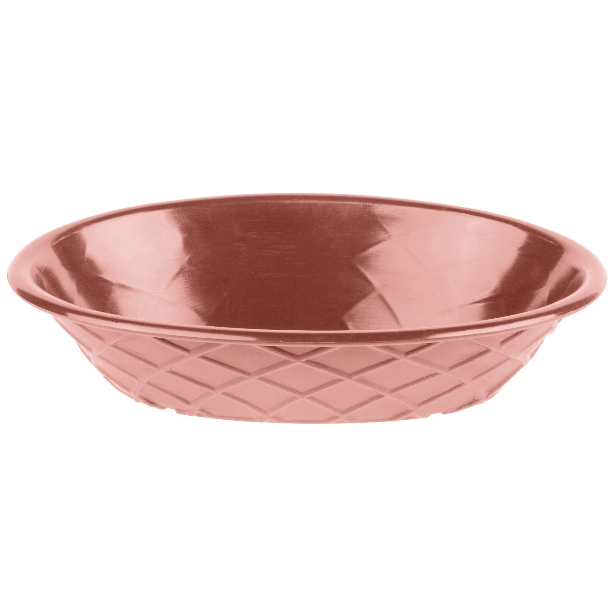 TableTop King HS1048 9'' x 5 1/2'' x 2'' Paprika Polyethylene Oval Weave Basket - 24/Case