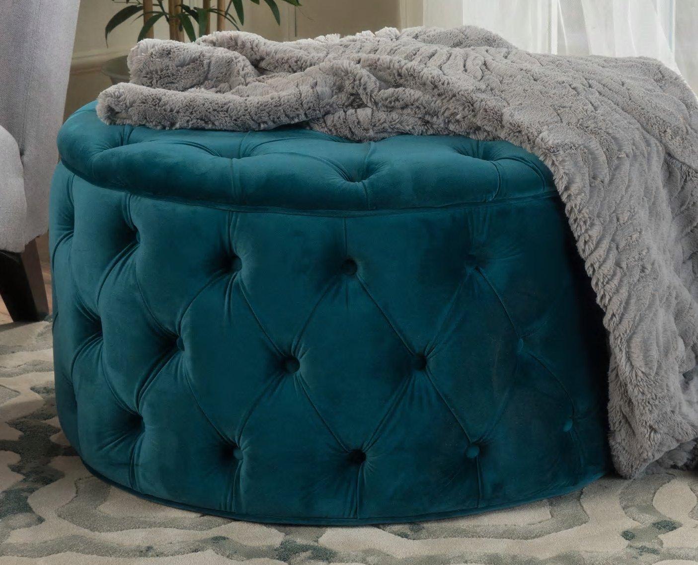 Swell Amazon Com Pop Dark Teal Tufted Soft Velvet Fabric Round Andrewgaddart Wooden Chair Designs For Living Room Andrewgaddartcom