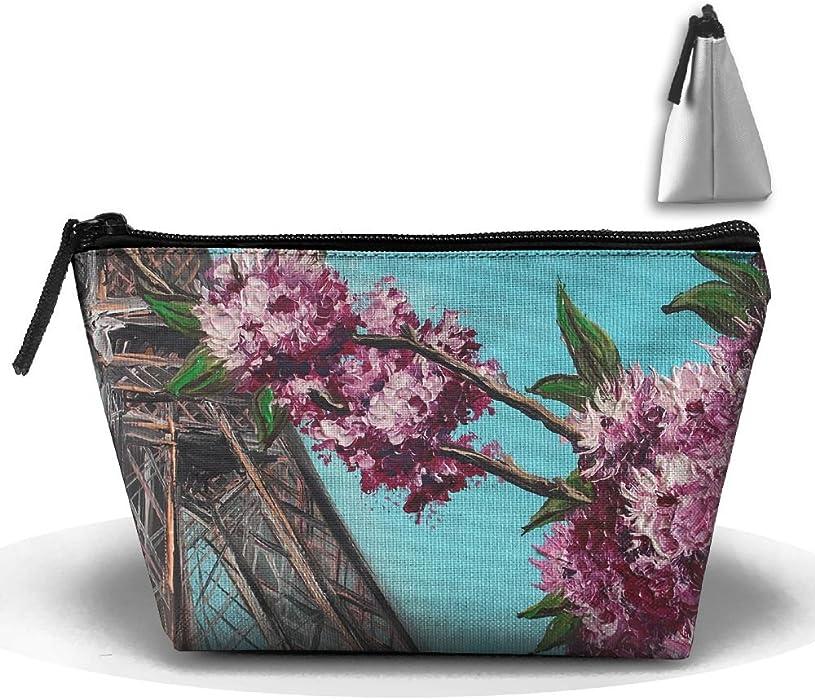 e30a7321936e Amazon.com: Trapezoidal Cosmetic Bags Makeup Toiletry Pouch Eiffel ...