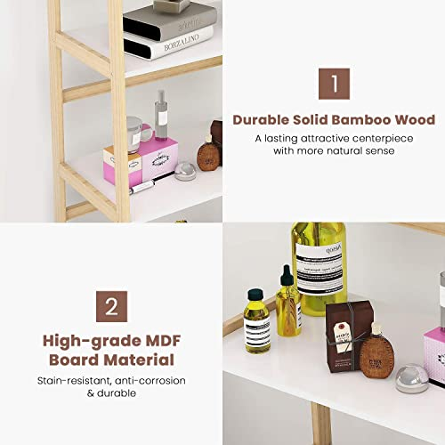 Recaceik Modern 5 Tier Ladder Shelf