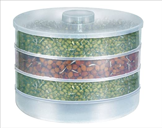 Hk Villa Sprout Maker | Plastic Sprout Maker Box | Hygienic Sprout Maker with 4 Container | Organic Home Making Fresh Sprouts Beans for Living Healthy Life