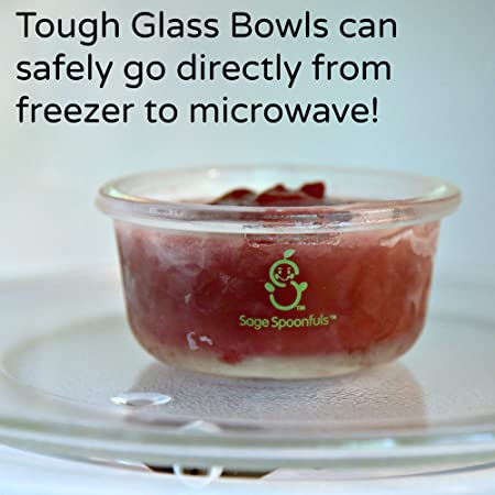 Amazon.com: Sage Spoonfuls, 4 cuencos de cristal resistentes ...