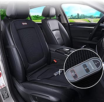 DIELIAN Heating Cooling Car Seat Cushion Pad Cover With Double Zone Breathable 3D Ventilated
