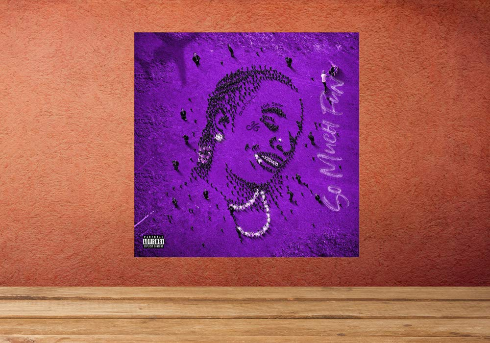 """Deluxe ' Art Music Album Poster Print 12/"""" 16/"""" 20/"""" 24/"""" 'So Much Fun Young Thug"""