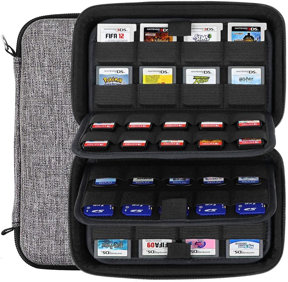 Sisma Estuche de juegos para 72 cartuchos Nintendo Switch 3DS DS ...