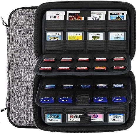 Sisma Estuche de juegos para 72 cartuchos Nintendo Switch 3DS DS 2DS PS Vita o Tarjetas SD - Funda cartuchos juego - color gris: Amazon.es: Videojuegos