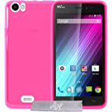 Coque Gel transparent Fuchsia Wiko Lenny + Stylet + 3 Films OFFERTS