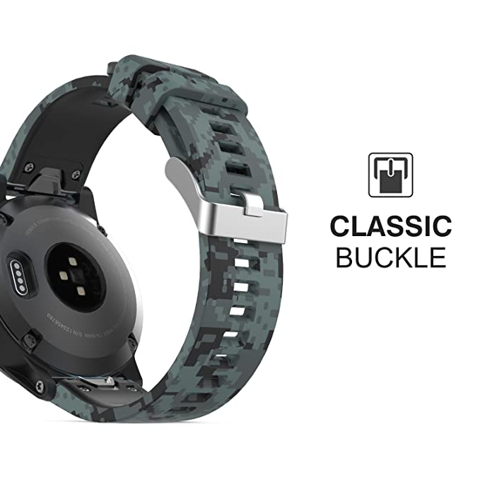 ... Replacement Strap for Garmin Fenix 5/5 Plus/Instinct/Forerunner 935/Aproach S60 Watch, (Not Fit Fenix 5X 5S), Shallow Digital Camouflage: Electronics