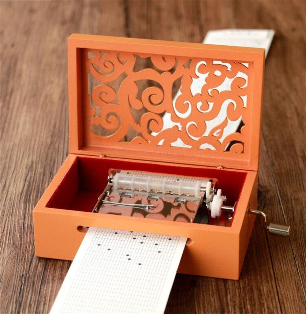 華麗 cuzit Your Make Your Own音楽ボックスキット木材彫刻メカニズムMusicalボックスHandcrank B07CQR1HXQ DIY Musicbox gift-30ノートオレンジ DIY B07CQR1HXQ, シカマチ:50446adc --- arcego.dominiotemporario.com