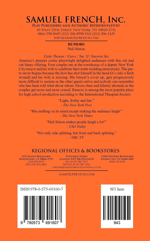 Rumors neil simon 9780573691607 amazon books fandeluxe Gallery