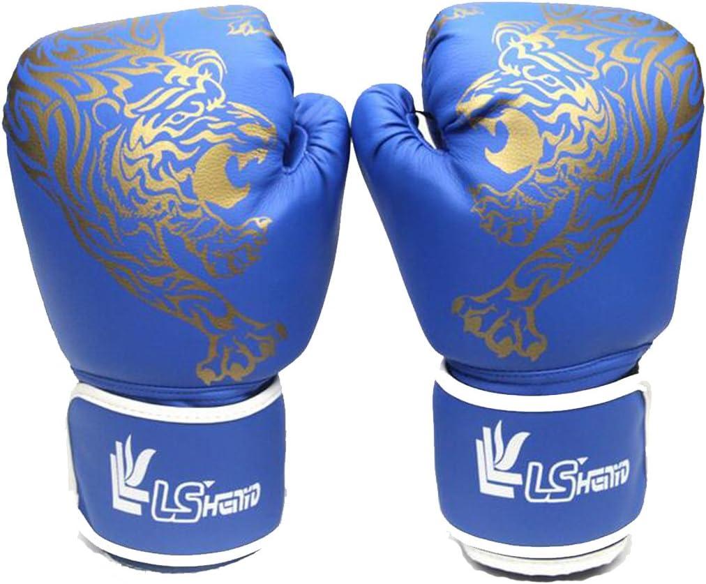 osave PUレザーKickboxing MMA Martial ArtsヘビーバッググローブBoxing Punching手袋 ブルー