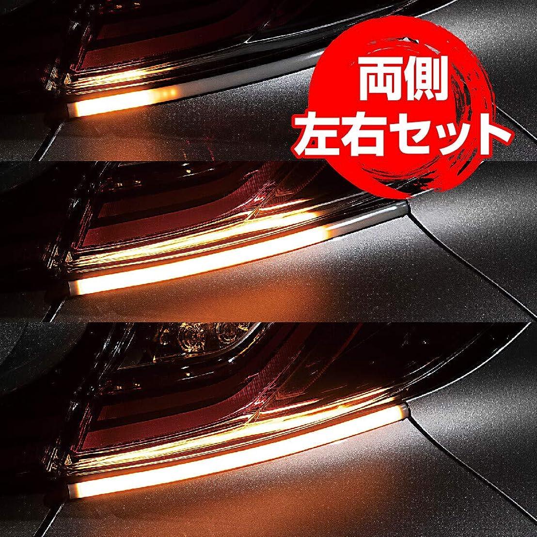 残酷結果衝突するディライト LEDテープライト 防水 ライト スティック型 12V ホワイトデイ っぽい 取り付けやすい 昼間のデイタイムランニングライト (2本セット)