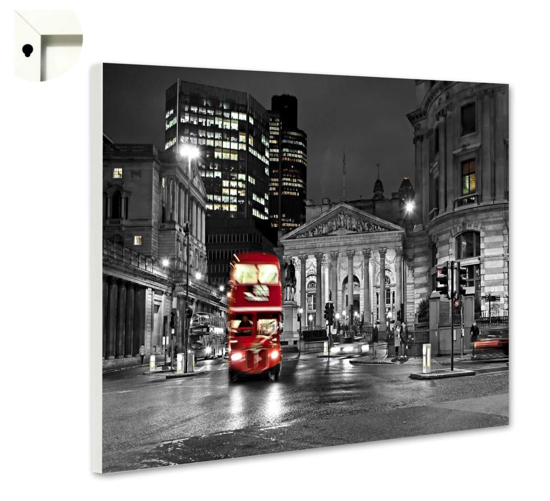 Magnettafel Pinnwand mit Motiv London Big Red Bus