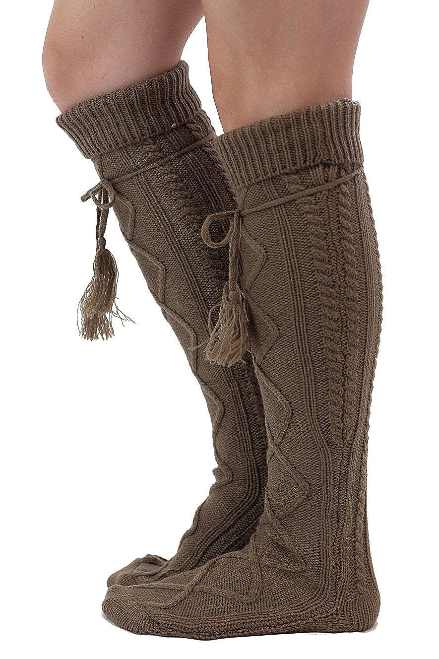 Tie Boot Socks Women's Tall Alpine Boutique Socks Brand by Modern Boho 617561345480