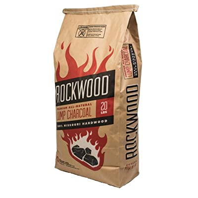 Rockwood All-Natural Hardwood Lump Charcoal - Missouri Oak, Hickory, Maple, and Pecan Wood Mix