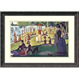"""Framed Art Print, 'Sunday Afternoon on the Island of La Grande Jatte, 1884-1886' by Georges Seurat: Outer Size 24 x 17"""""""