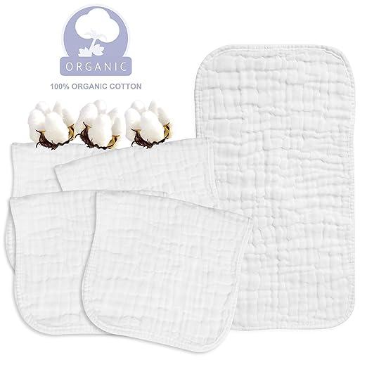 Amazon.com: Paños de muselina hechos de 100% algodón, toalla ...