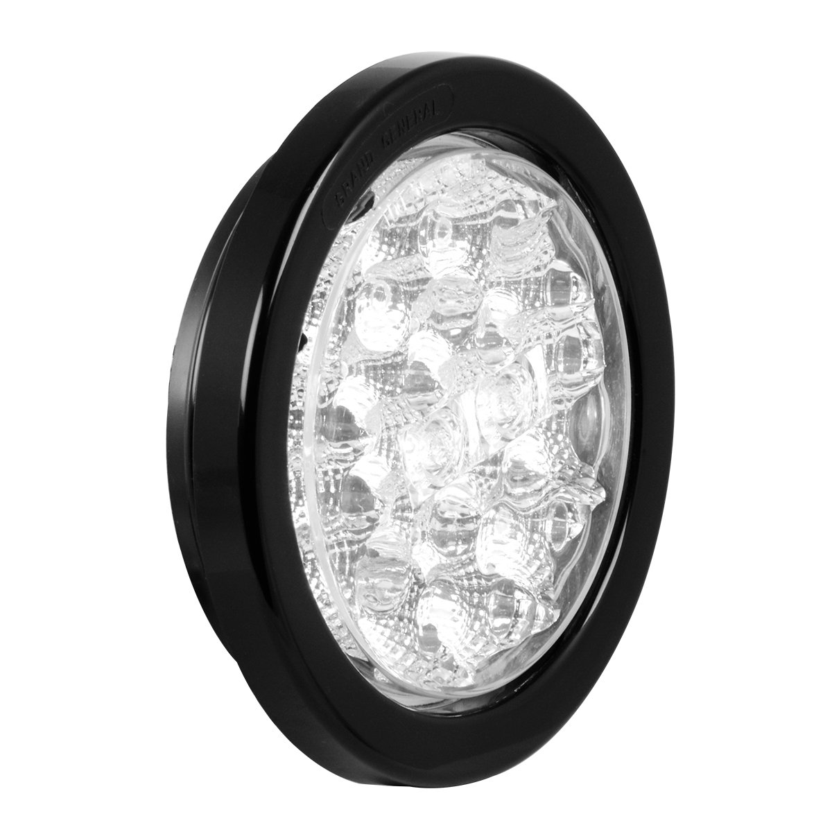RVs Trailers Utility Vehicles Grommet and Pigtail for Trucks GG Grand General Grand General 77082BP Spyder 4 Round White LED Backup Includes Light Buses