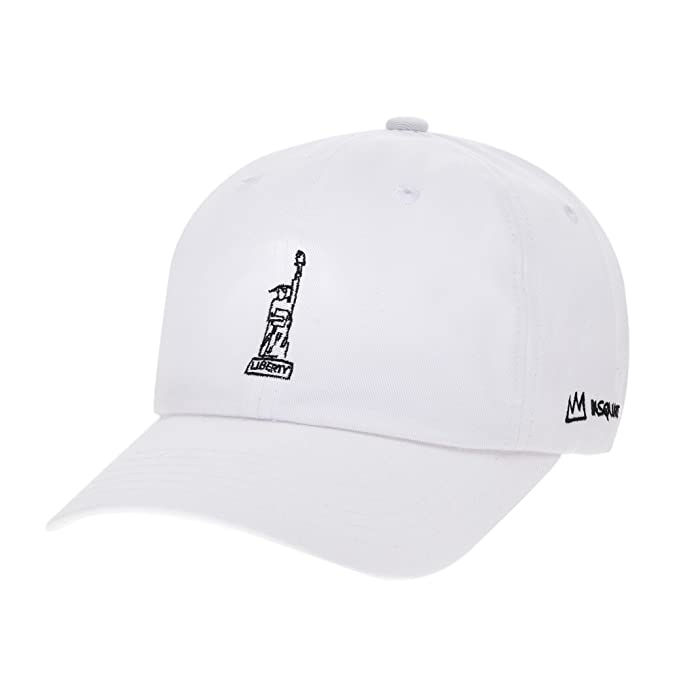 130f5dec025 WITHMOONS Baseball Cap Jean-Michel Basquiat Statue of Liberty Embroidery  CR1702 (White)