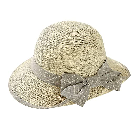 cc14d4c2 iLXHD Womens Wide Brim Sun Hat Lanyard UPF 50 Beach Summer Light ...