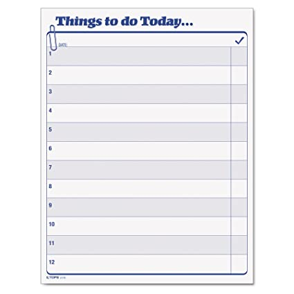 Daily Agenda | Amazon Com Tops Daily Agenda Things To Do Today Pad 8 5 X 11