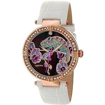Bertha Camilla Women s Quartz White Genuine Leather Rose Gold Watch  BTHBR6207 167dacaddf