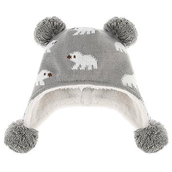 9c7da65866b41 C-Princess ニット帽 耳あて キッズ 子供用 帽子 ベビーハット 赤ちゃん 裏ボア