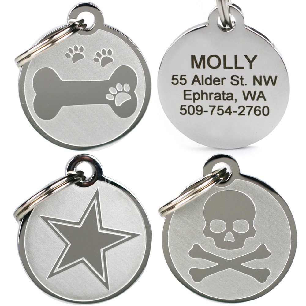 GoTags Pet ID Playful, Custom Engraved Dog & Cat Pet Tags. Solid Stainless Steel, Personalized, and Fun.