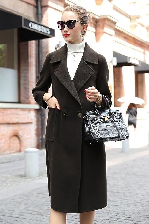 Womens HIDRRU abrigo de lana de lana 100% pura mujer color 2017 nuevos trajes para
