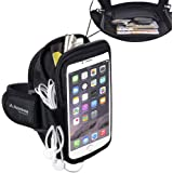 Avantree Neoprene iPhone 8 7 6 6S Plus Sports Running Armband with Key Holder / Card Pouch, Fits for Samsung Galaxy Note 5, Google Nexus 6P - Trackpouch