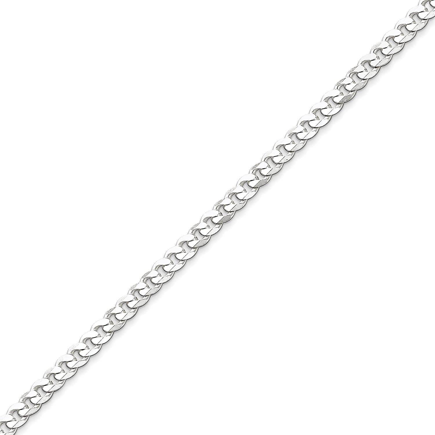 West Coast Jewelry Sterling Silver 4.25mm Curb Chain