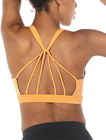 Women Padded Strappy Sports Bras Yoga Fitness Tops Activewear Workout Underwear