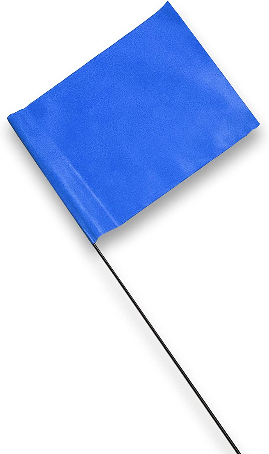 Marking Flags - 4 x 5-Inch Flag on 15-Inch Steel Wire - Fluorescent Blue, 100 Pack - Marker Flags for Irrigation, Sprinkler Flags, Lawn Flags, Yard Flags, Garden Flags, Dog Training, Invisible Fence