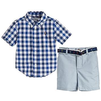 6bcaad94 Ralph Lauren Baby Boys Plaid Shirt & Oxford Shorts Set (3 Months)