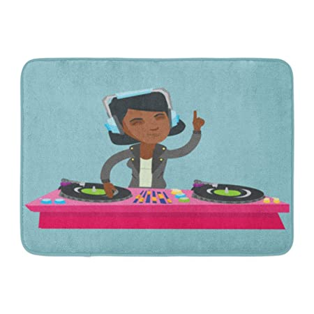 Rongpona Alfombrilla de baño DJ afroamericano Joven ...