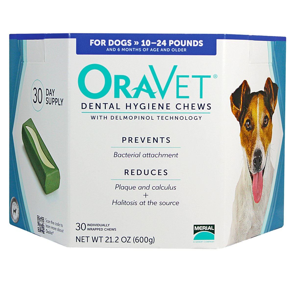 Oravet Dental Hygiene Chews, 10-24 lb, 30 ct, 3 pack + $8, off purchase with attached rebate form.