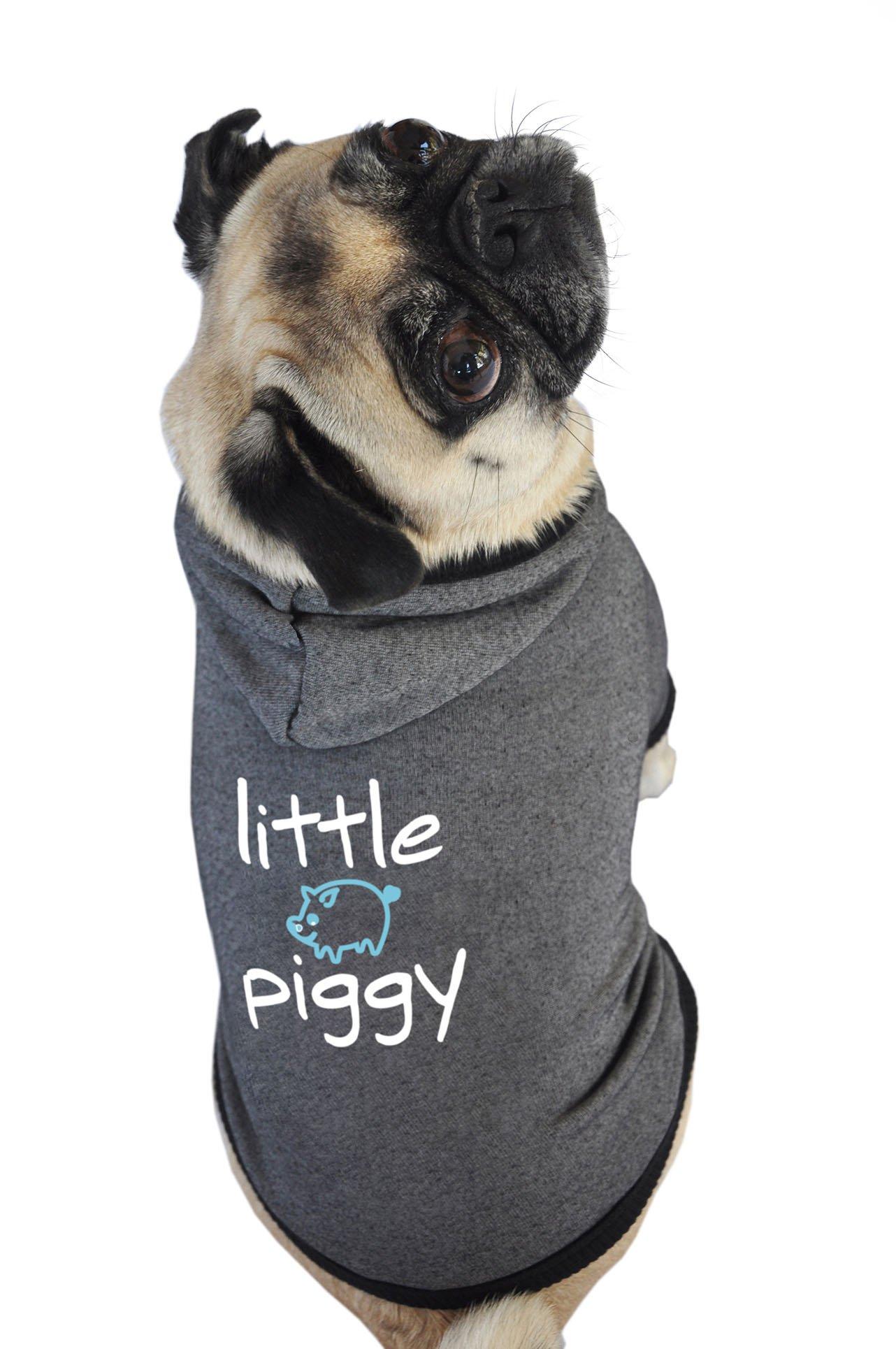 Ruff Ruff and Meow Dog Hoodie, Little Piggy, Black, Small by Ruff Ruff and Meow