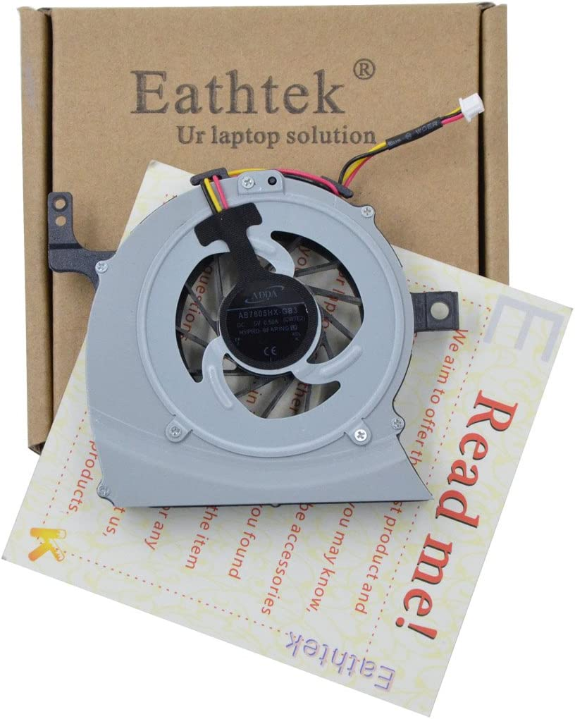 Eathtek Replacement CPU Cooling Fan for Toshiba Satellite L645D-S4056 L645-S4102 L645D-S4040 series, Compatible with part number AB7805HX-GB3 CWTE2