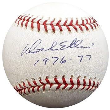 Dock Ellis Signed Official MLB Baseball New York Yankees 1976-77 Memorabilia - Beckett Authentic