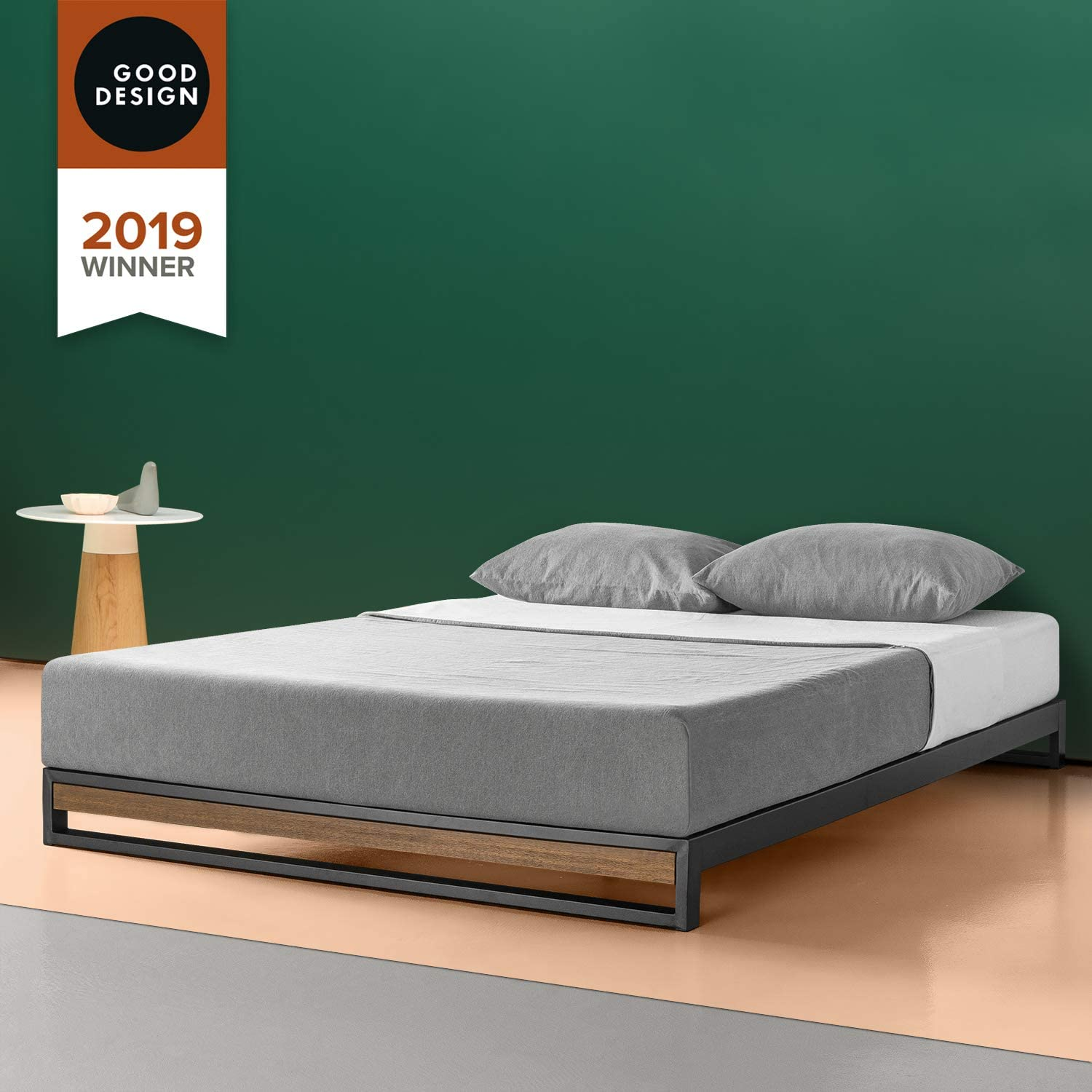 Amazon Com Zinus Suzanne 6 Inch Platform Bed Without Headboard