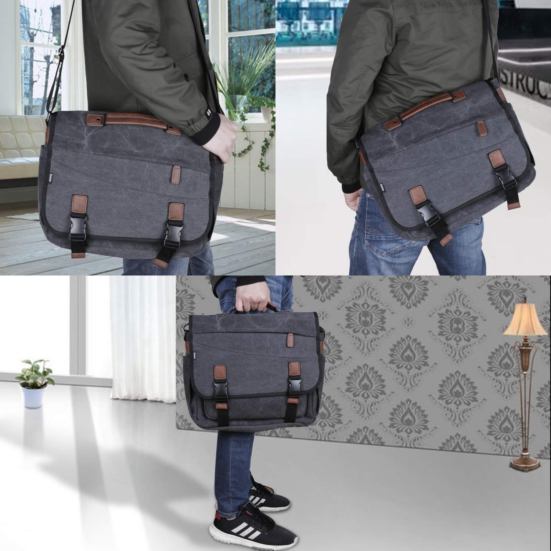 Zacro Multi-funtion Nylon Shoulder Laptop Messenger Bag,Briefcase Handbags for Camera//Tablet//Notebook